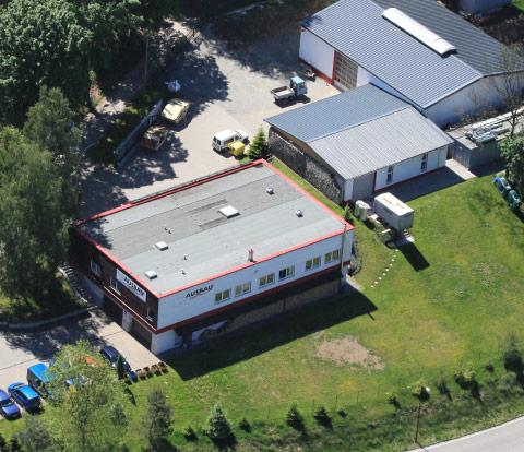 Luftbild des Firmengebäudes